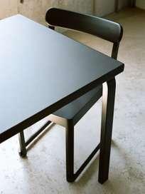 Aalto Table Rectangular 80A - Top Black Linolium - 120x60cm