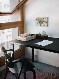 Aalto Table Rectangular 81B - Top Black Linolium - 120x75 cm