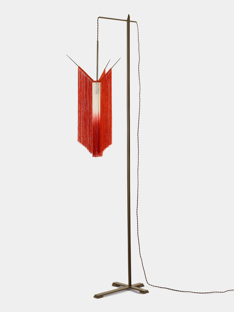 Ann Demeulemeester - Chan 2 Floor Lamp Scarlet/Cream