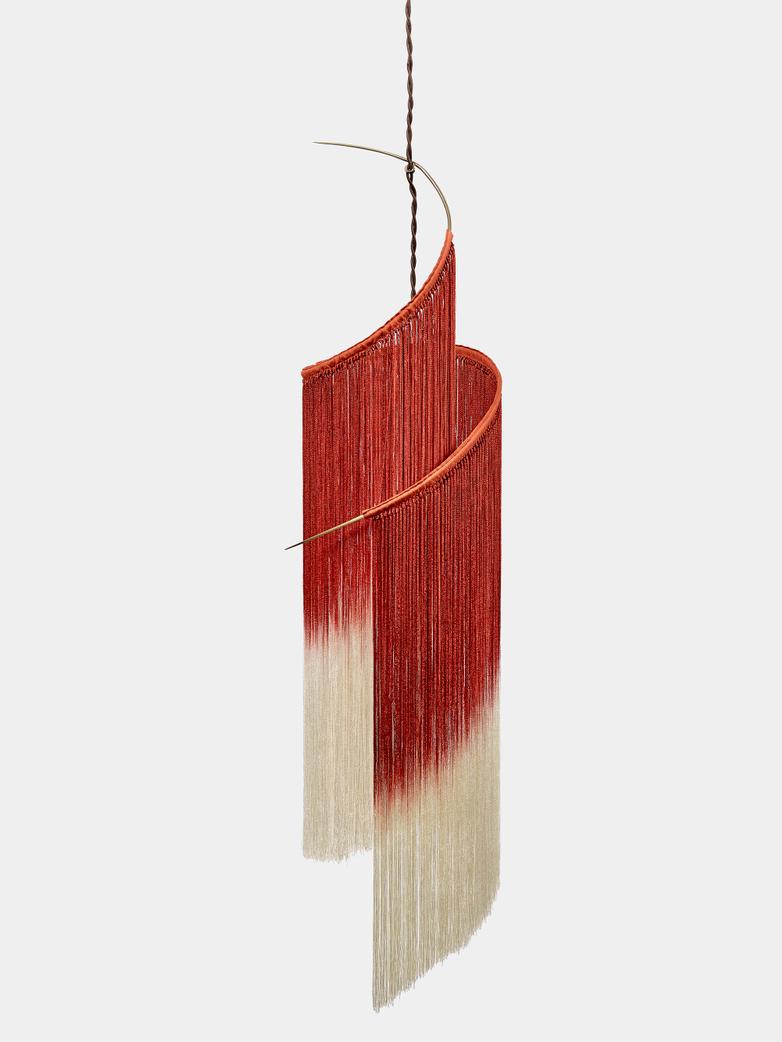 Ann Demeulemeester - Rey 1 Pendant Lamp Scarlet/Cream