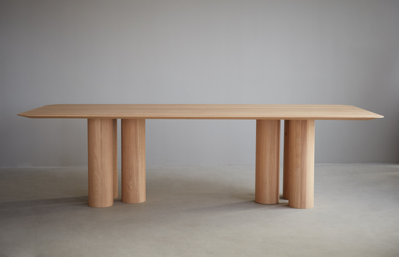 Hommage Oblong Dinner Table – White Stained Oak