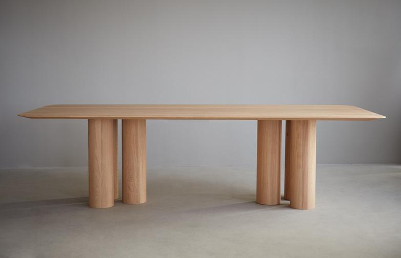 Hommage Oblong Dinner Table – White Stained Oak