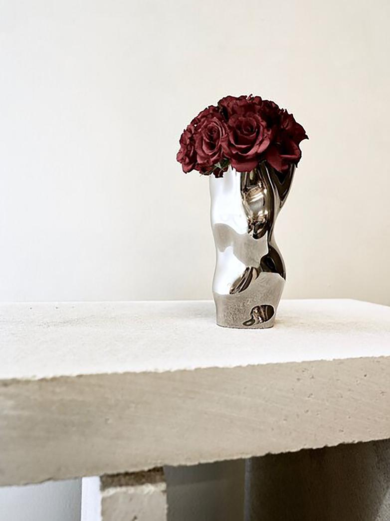 Ostrea Rock Steel Vase