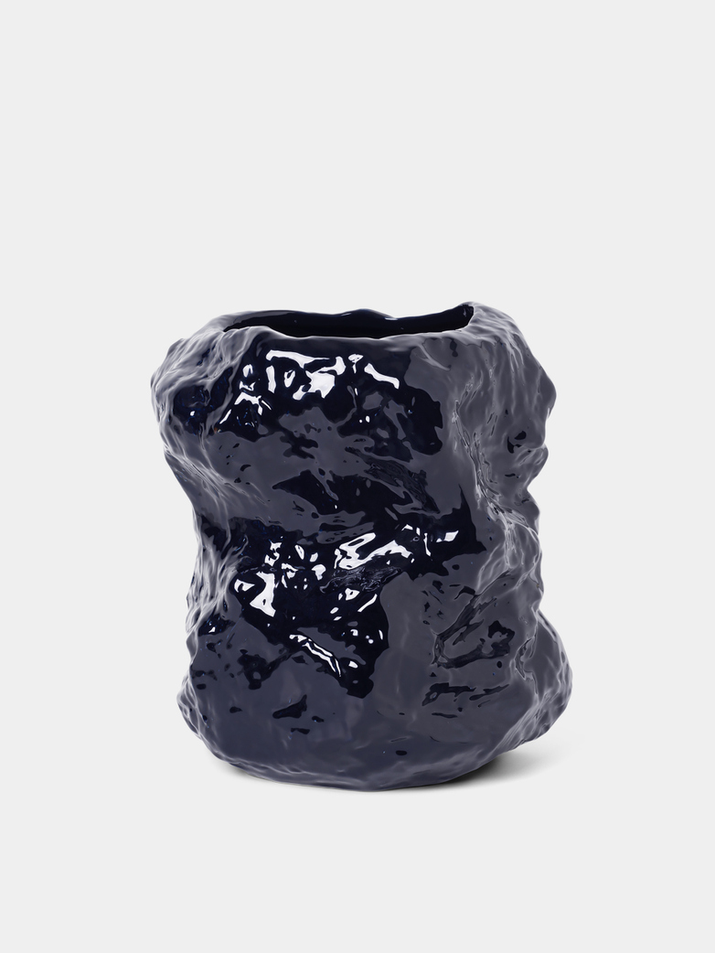 Tuck Vase - Dark Blue