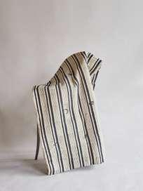 Khadi Sofa Cover Navy
