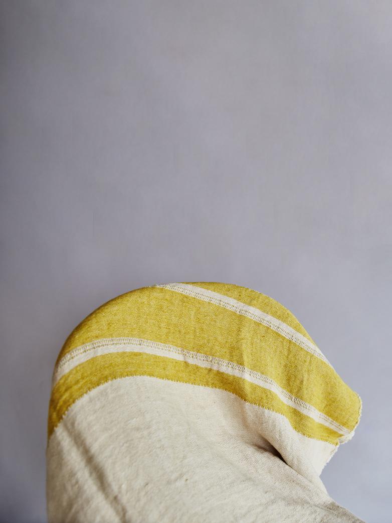 The Belgian Towel - Mustard Stripe