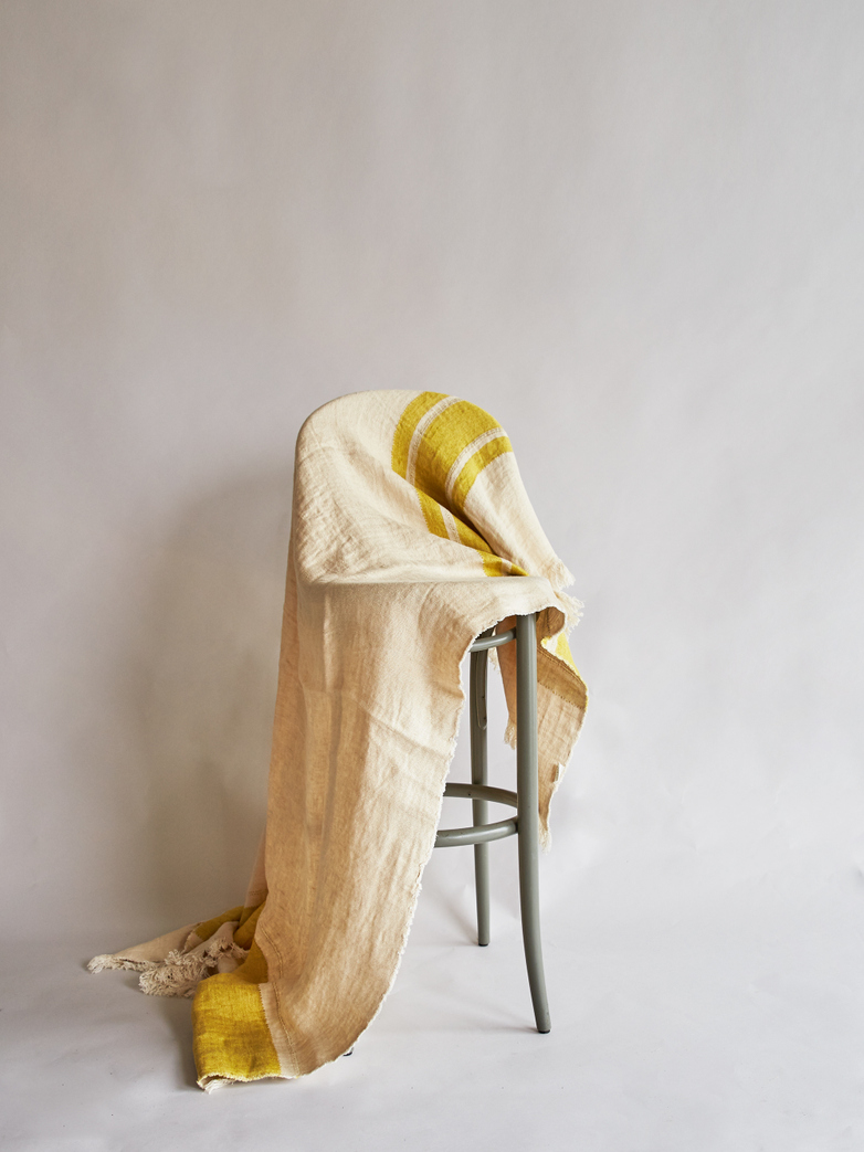 The Belgian Towel - Mustard Stripe