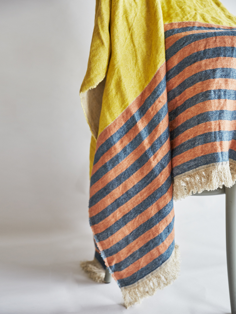 The Belgian Towel - Red Earth Stripe