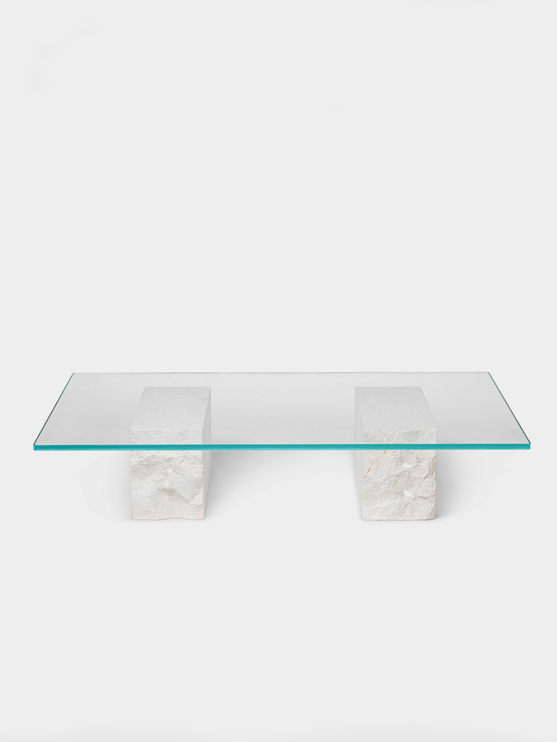 Mineral Coffee Table - Bianco Curia