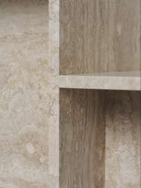Distinct Side Table - Travertine
