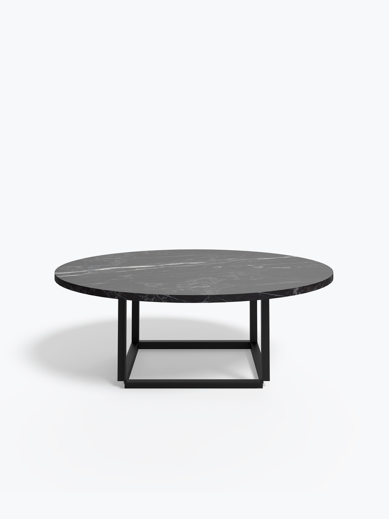 Florence Coffee Table – Black Marble – Ø90