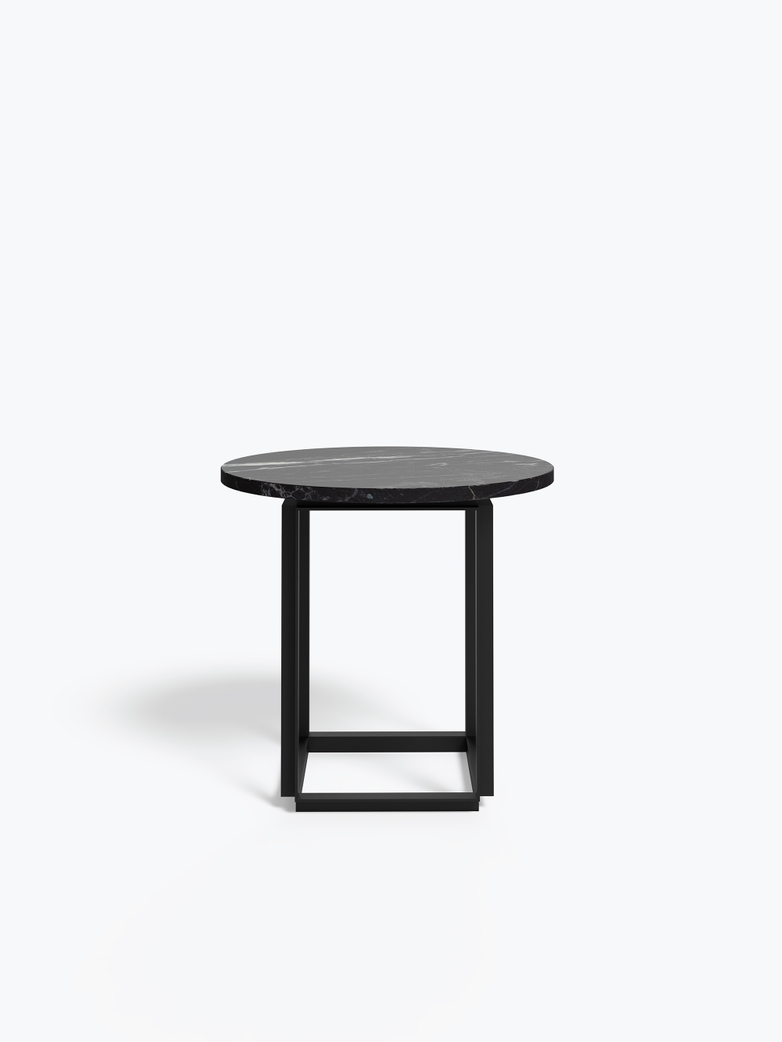 Florence Side Table – Black Marble – Ø50