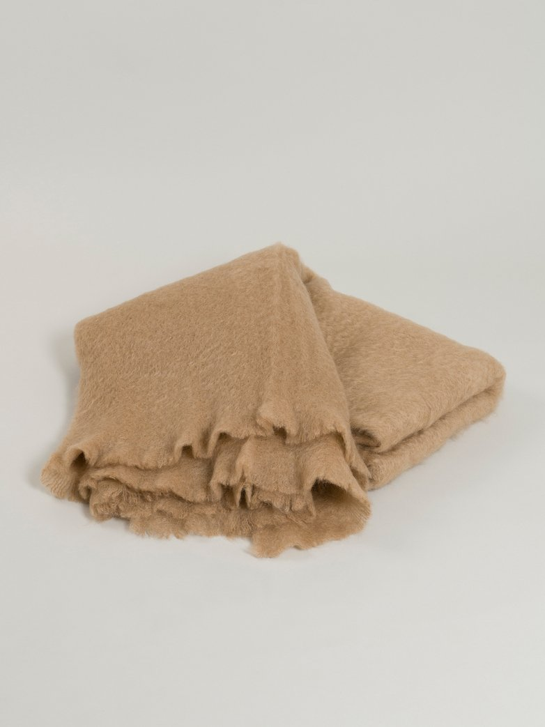 Mohair Throw 130 x 200 cm - Camel