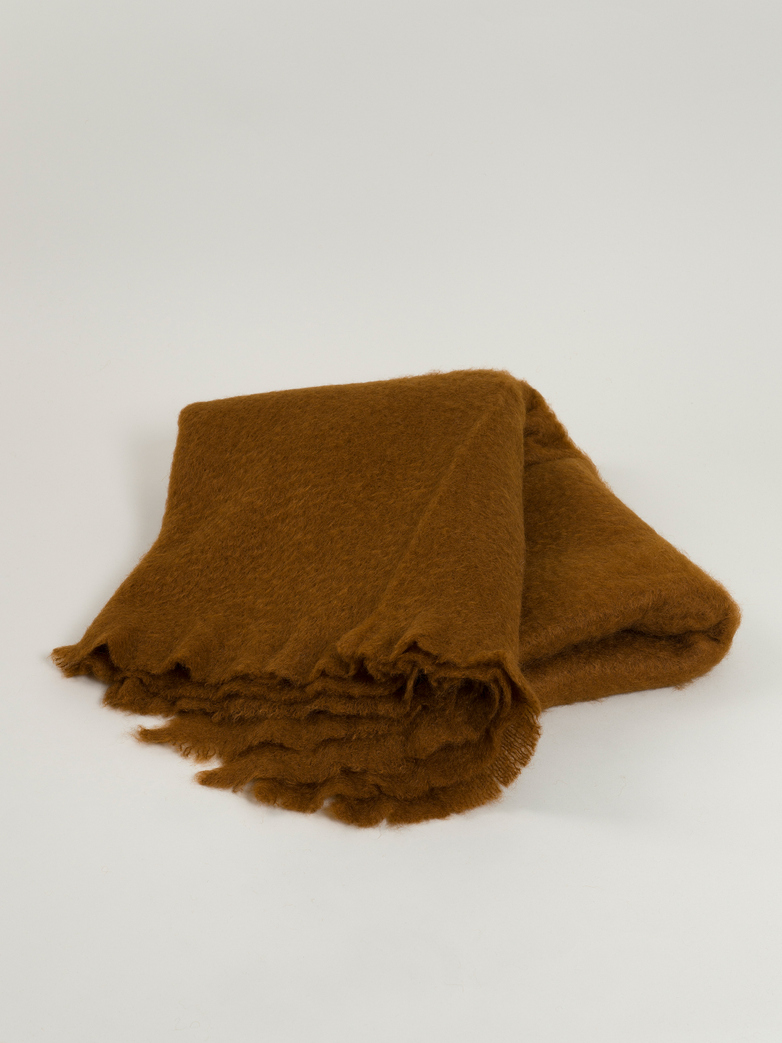 Mohair Throw 130 x 200 cm - Brown