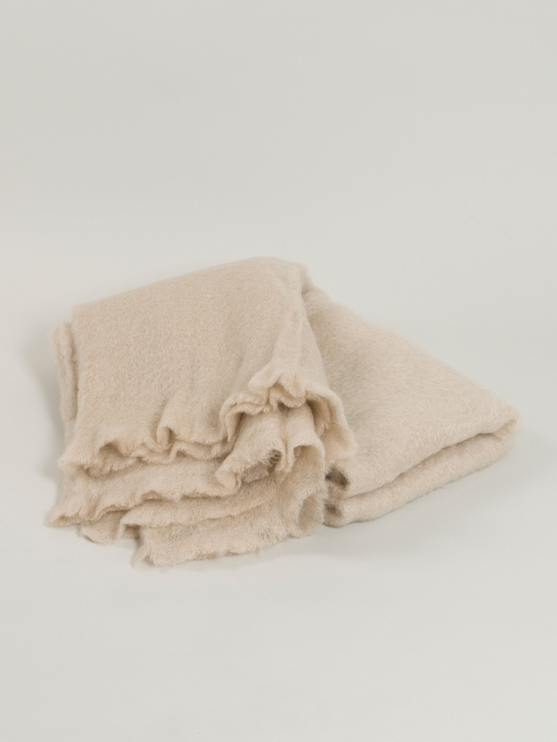 Mohair Throw 130 x 200 cm - Beige