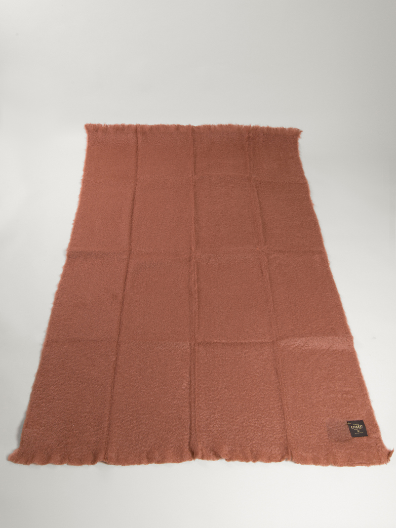 Mohair Throw 130 x 200 cm - Coral Pink