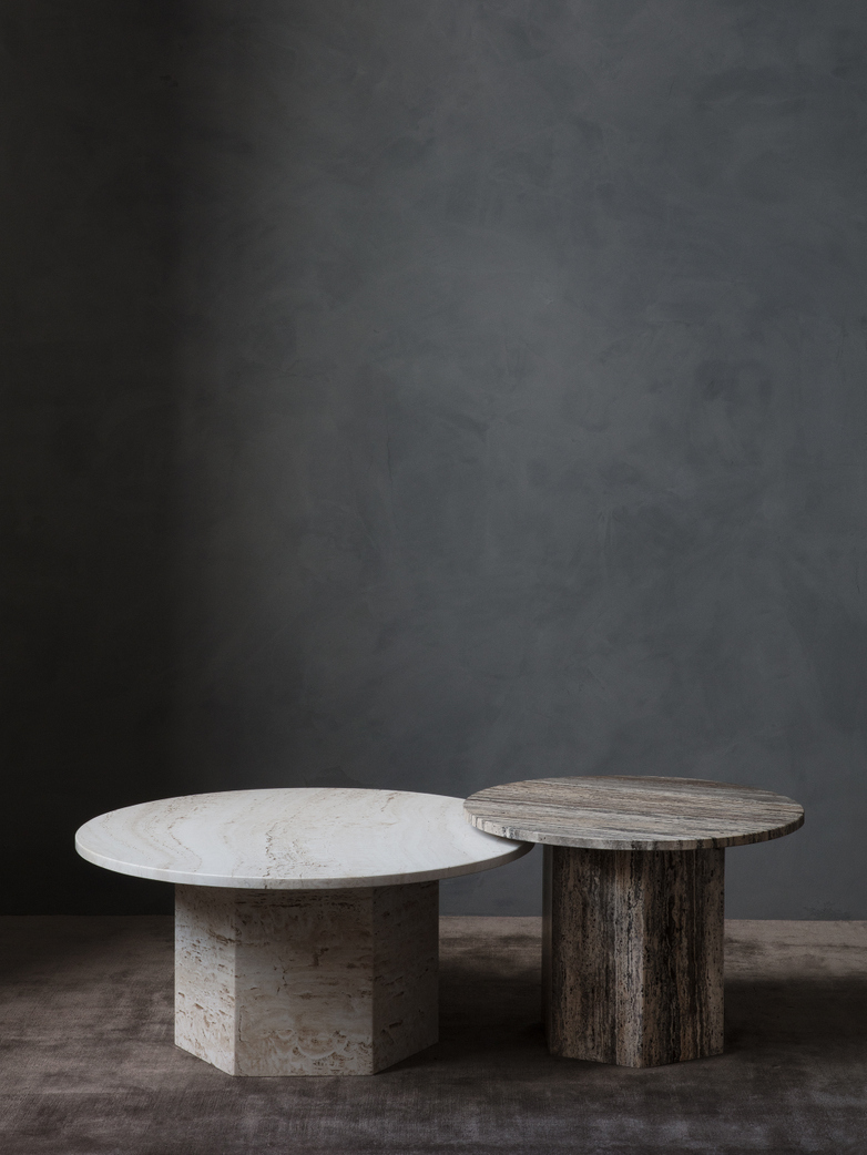 Epic Coffee Table - Grey Travertine – Ø60