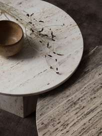Epic Coffee Table - White Travertine – Ø60