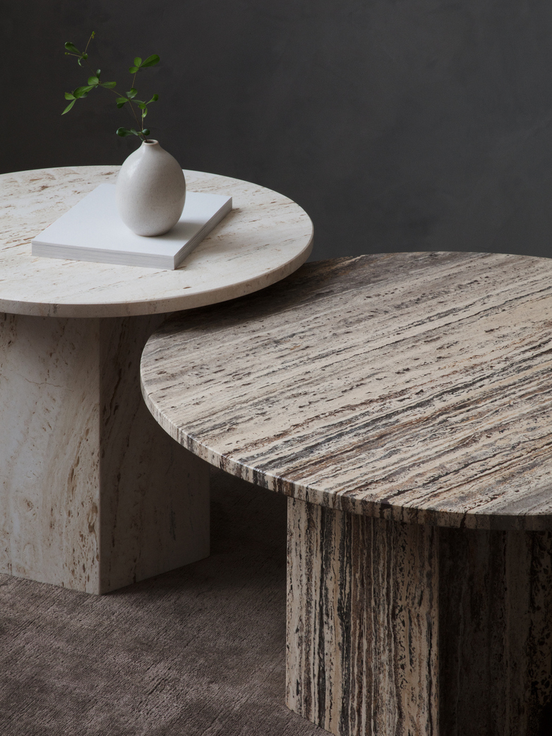 Epic Coffee Table - Grey Travertine – Ø80