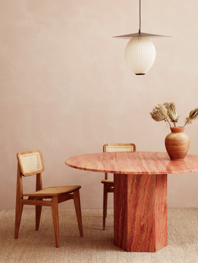 Epic Dining Table - Red Travertine – Ø130