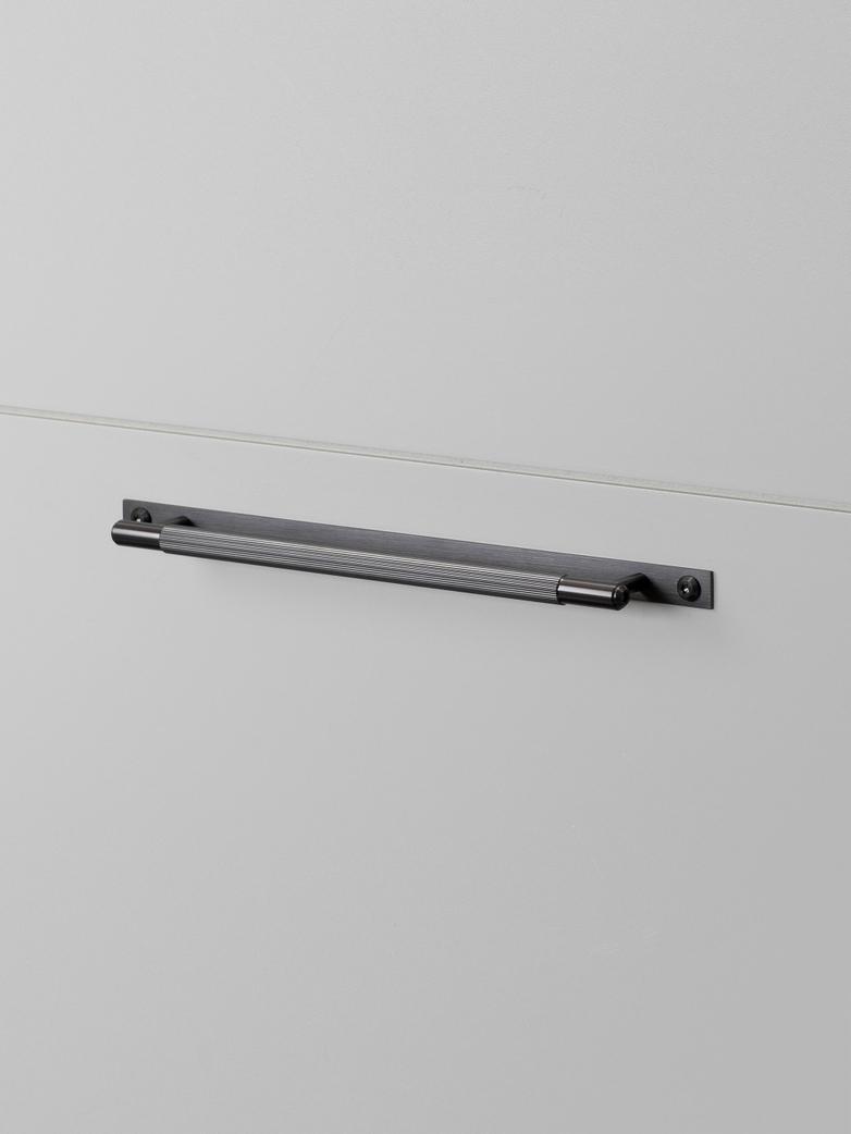 Pull Bar - Plate - Linear - Gun Metal