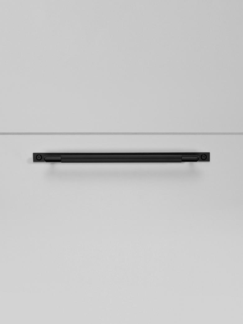 Pull Bar -Plate -  Linear - Black