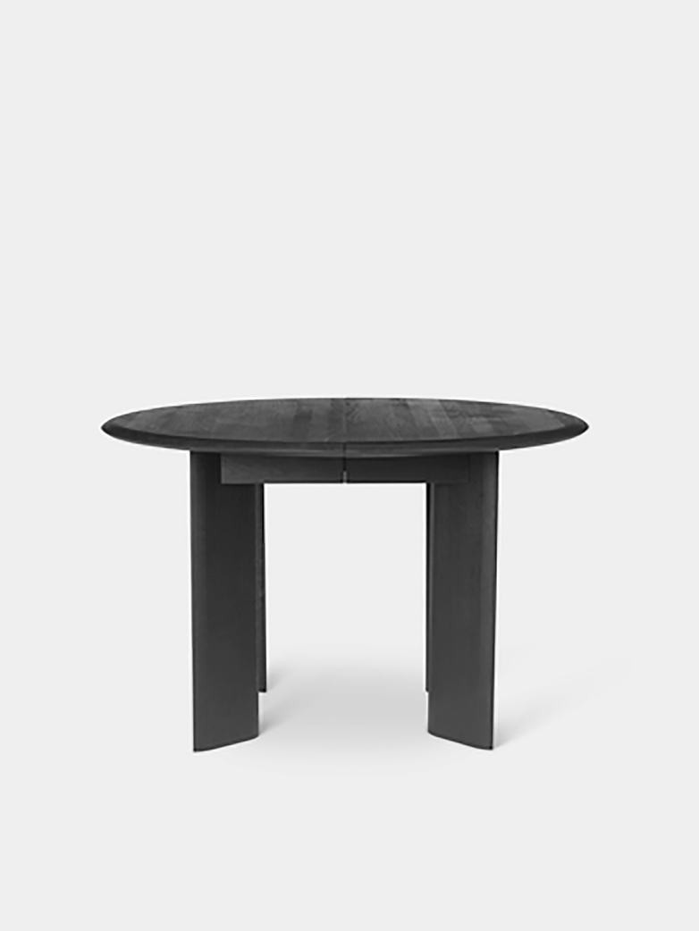 Ferm Living - Bevel Table Round 117 cm Black Oiled Oak