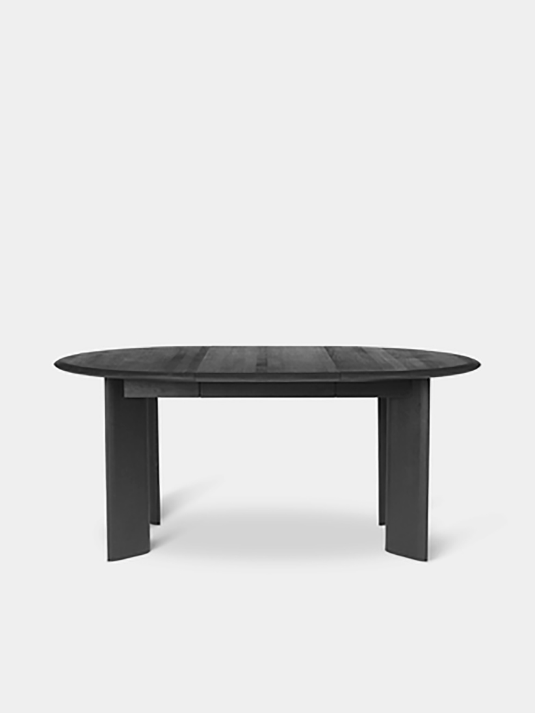Ferm Living - Bevel Table Extendable X 1 Black Oiled Oak