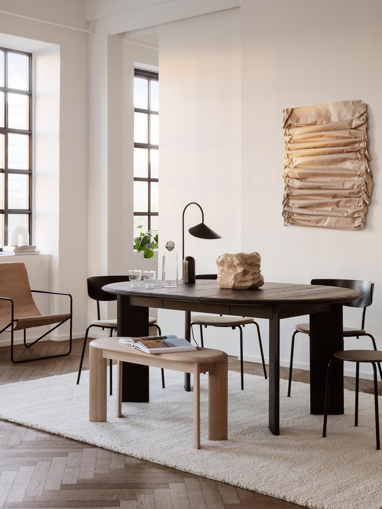 Ferm Living - Bevel Table Extendable X 1 Black Oiled Oak