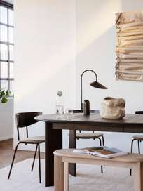 Ferm Living - Bevel Table Extendable X 1 White Oiled Oak