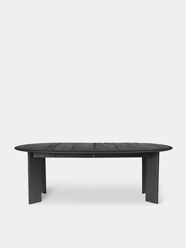 Ferm Living - Bevel Table Extendable X 2 Black Oiled Oak