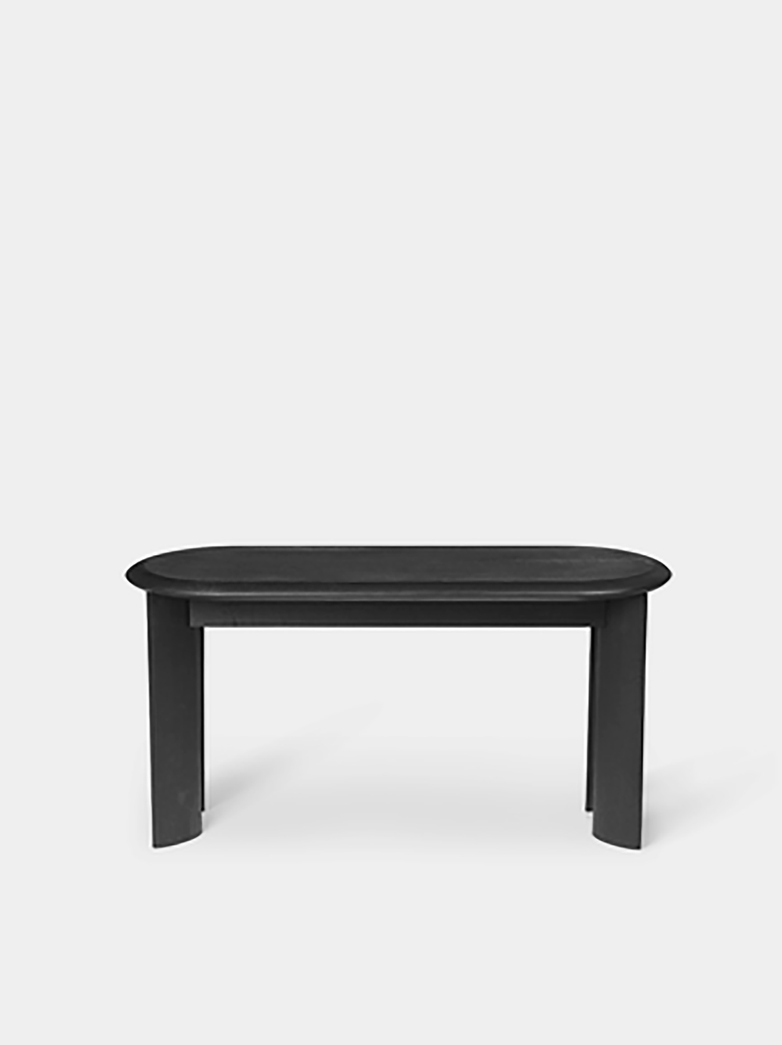 Ferm Living - Bevel Bench Black Oiled Oak