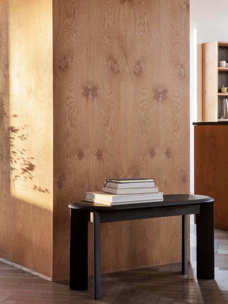 Ferm Living - Bevel Bench Black Oiled Oak