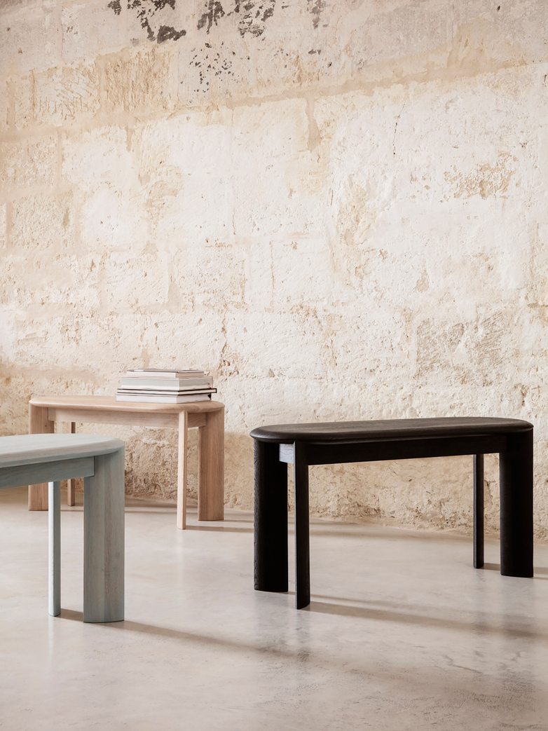 Ferm Living - Bevel Bench White Oiled Oak