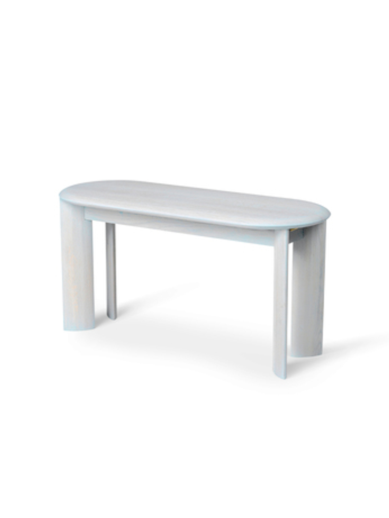 Ferm Living - Bevel Bench Ice Blue Oiled Oak