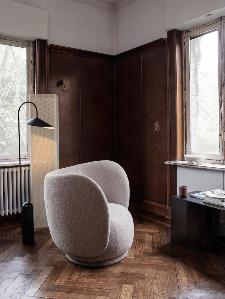 Ferm Living - Rico Lounge Chair Bouclé Off-White