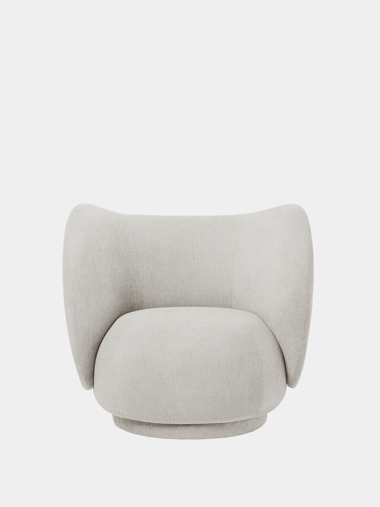 Ferm Living - Rico Lounge Chair Bouclé Off-White