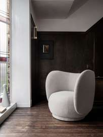 Ferm Living - Rico Lounge Chair Bouclé Sand