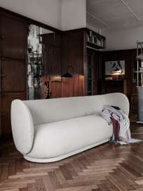 Ferm Living - Rico Sofa 4-Seater Bouclé Off-White