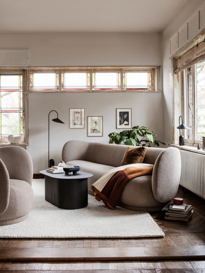 Ferm Living - Rico Sofa 4-Seater Bouclé Sand