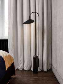 Ferm Living - Arum Floor Lamp Black Black Marble