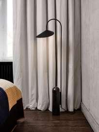 Ferm Living - Arum Floor Lamp Black Black Marble