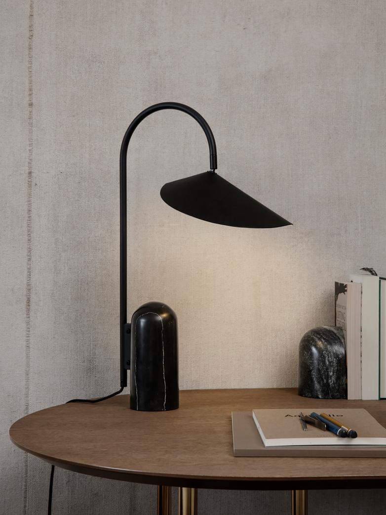Ferm Living - Arum Table Lamp Black Black Marble