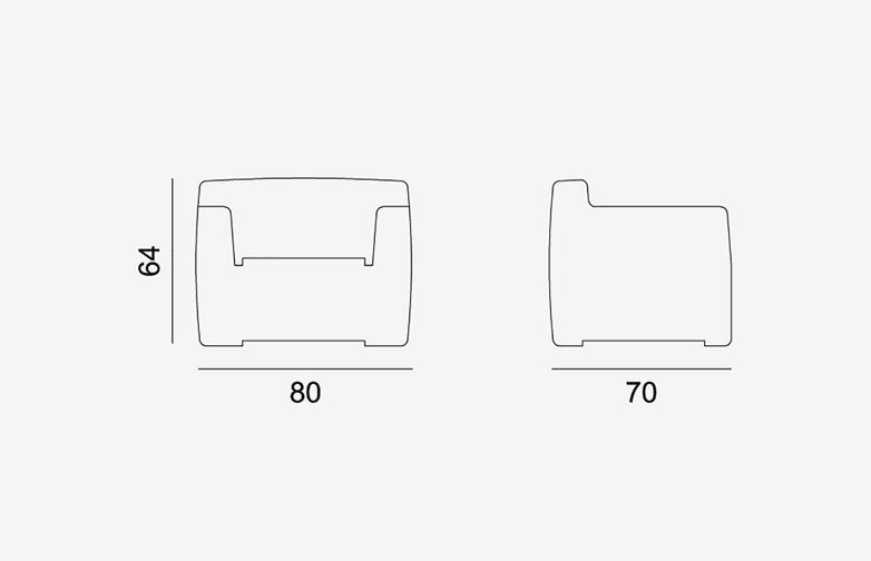 Gervasoni - Inout 101-101L - Armchair