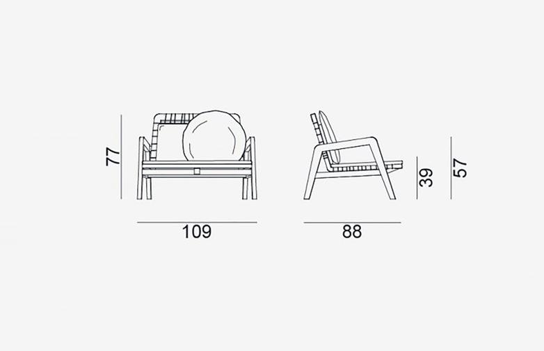 Gervasoni - Inout 862 - Armchair