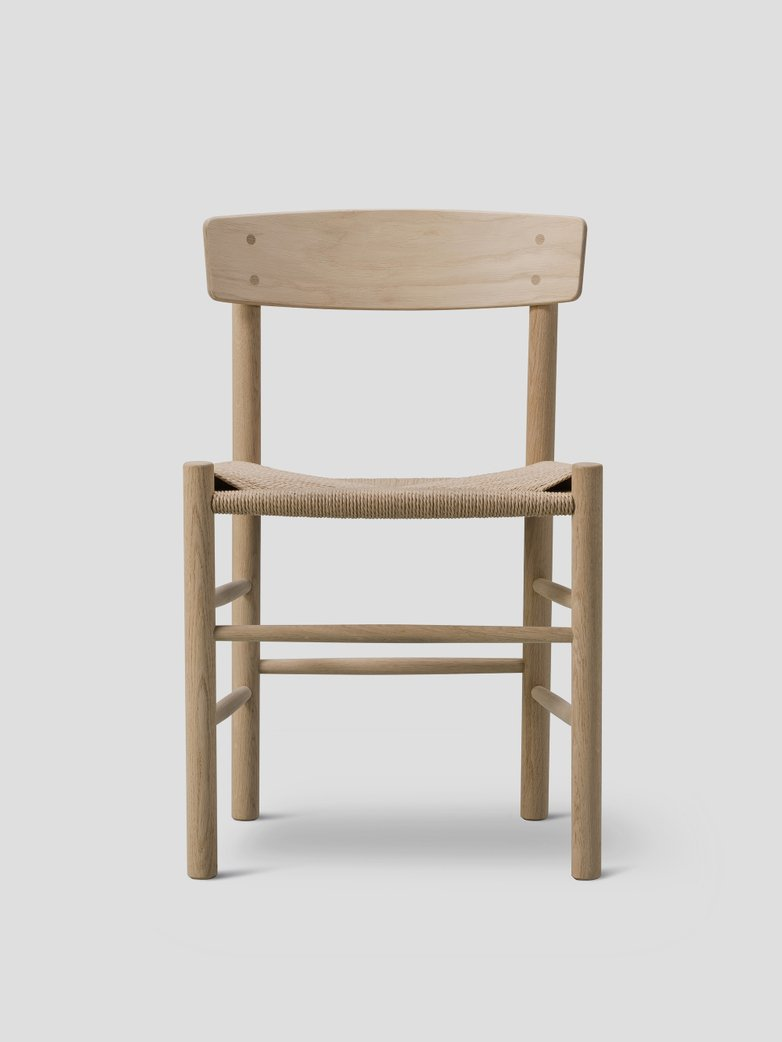 J39 Chair - Soaped Oak/Natural