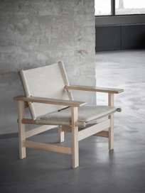 The Canvas Chair – Soaped Oak – Natural Canvas