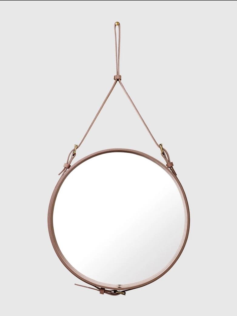 Adnet Circular Mirror Dusty Cedar - 58cm