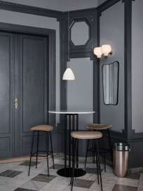 F.A Wall Mirror - Black Brass
