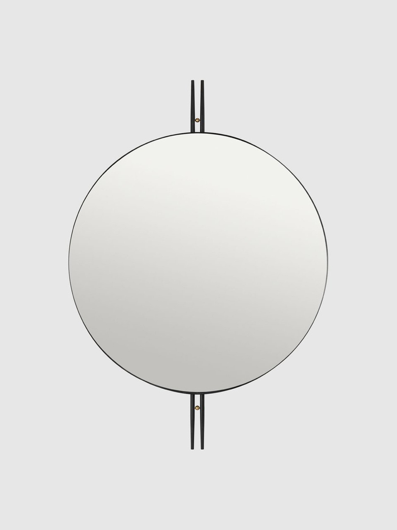 IOI Mirror Black Semi Matt Ø80